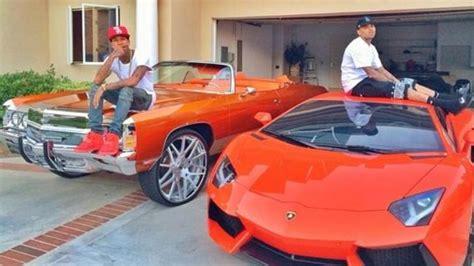 Tyga Lamborghini Tyga And Chris Brown Hanging Out On Lambo And Impala