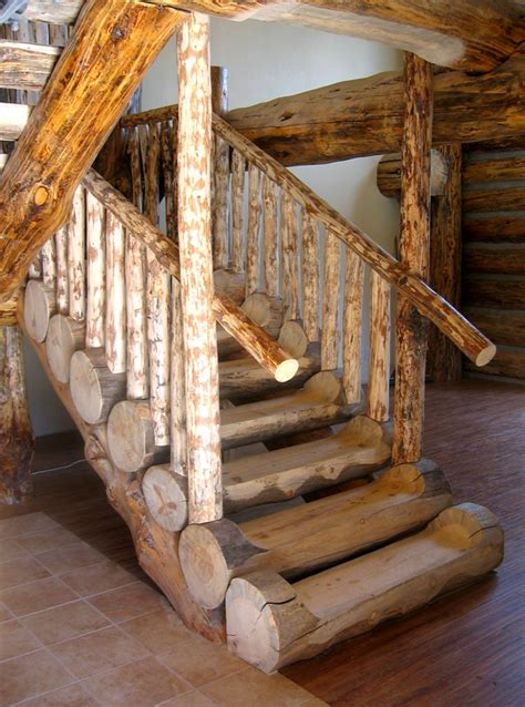 Log Cabin Stairs by Colorado Log Cabin