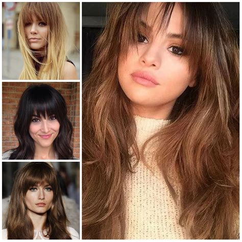 hairstyles for long hair straight bangs hairstyles with bangs hairstyles 2018 new haircuts and