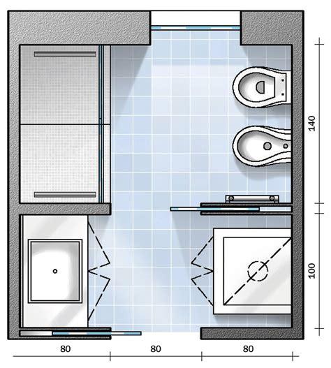 progetto bagni bagno con pianta progetto e costi dei lavori prima