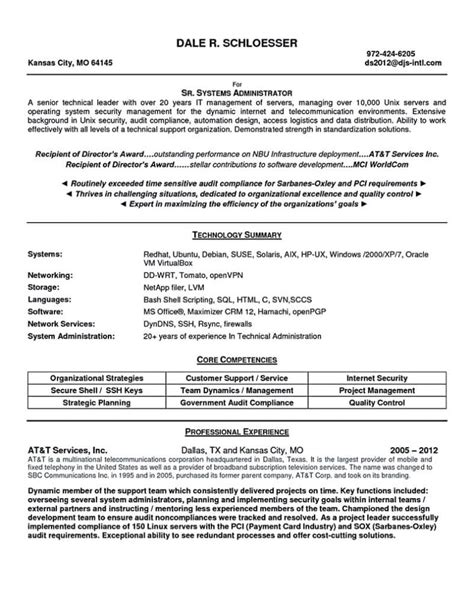 system administrator cover letter sle clearcase administrator sle resume sle template resume
