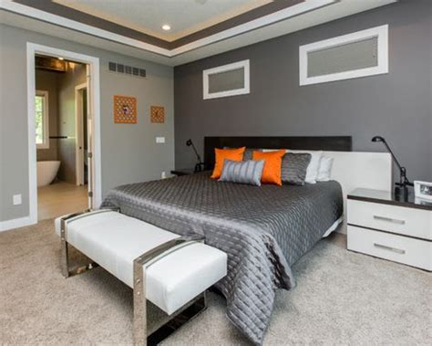 two tone colors for bedrooms two tone gray wall home design ideas pictures remodel