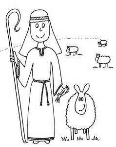 Bible Coloring Pages / New Testament The Good Shepherd 4 sketch template