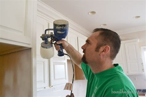 Paint Sprayer For Kitchen Cabinets by How To Spray Kitchen Cabinets With The Homeright Finish
