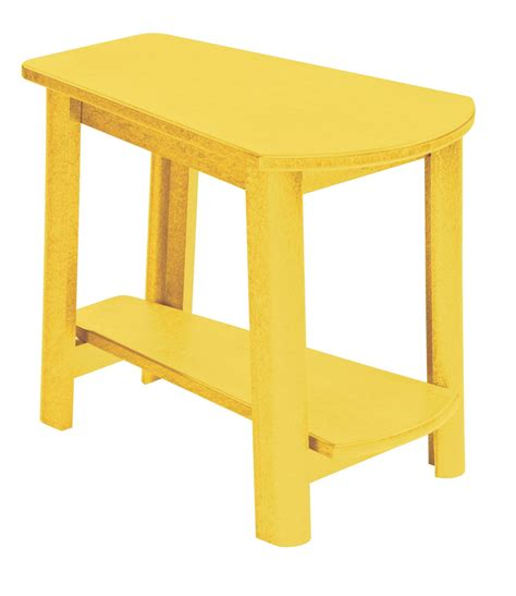Yellow Accent Table Generations Yellow Tapered Accent Table From Cr Plastic T04 04 Coleman Furniture