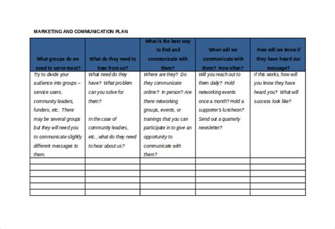 strategic plan template not for profit 12 word spreadsheet templates free free