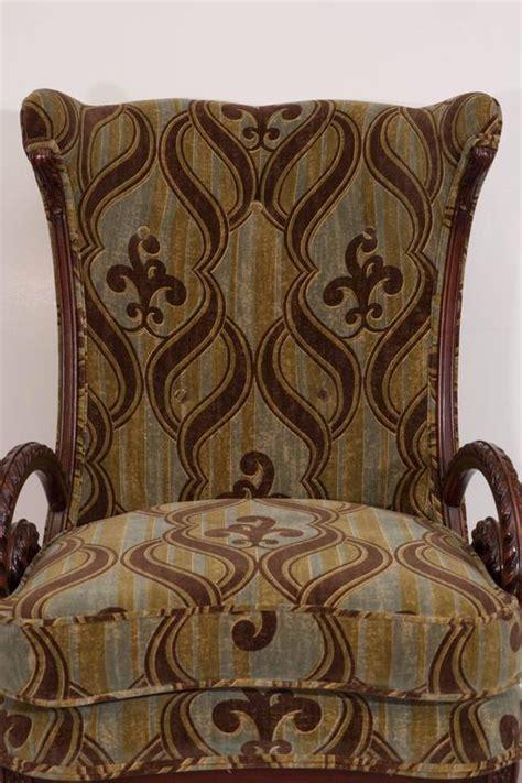 william morris armchair mid century grosfeld house mahogany armchair with william