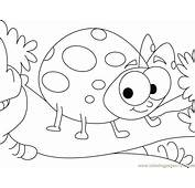 Easy Lady Bug Colouring Pages Ladybug Coloring In