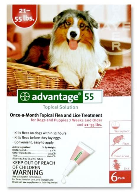 topical flea treatment for dogs buy cheap advantage topical flea treatment for dogs 21 55 lbs 6 applications