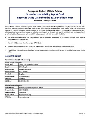 School Accountability Report Card Template by Report Card Template Forms Fillable Printable Sles