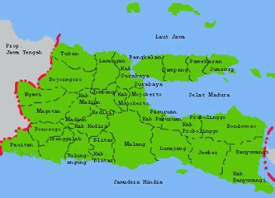 kabupaten pacitan peta jawa timur