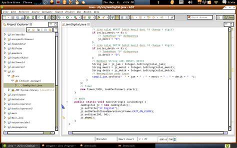 membuat jam digital pada java java programming membuat jam digital dengan java