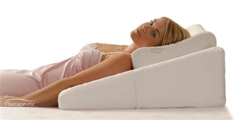 Sleep Wedge Pillow by Bed Pillow Contoured Bed Wedge Support Pillow