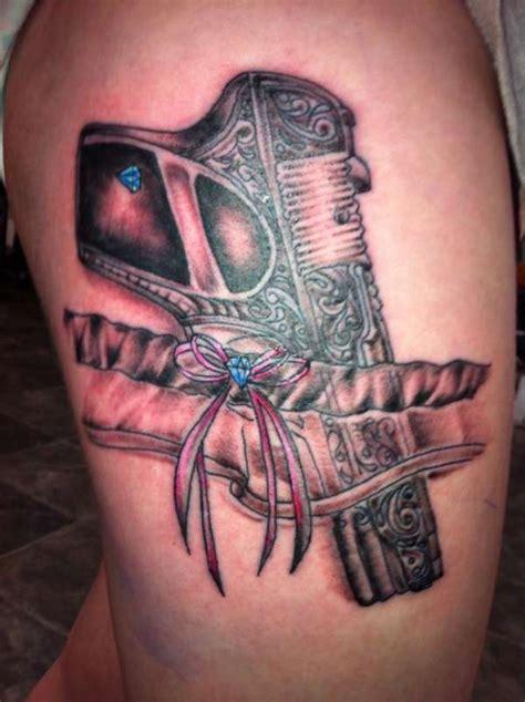 tattoo garter gun gun and garter tattoo