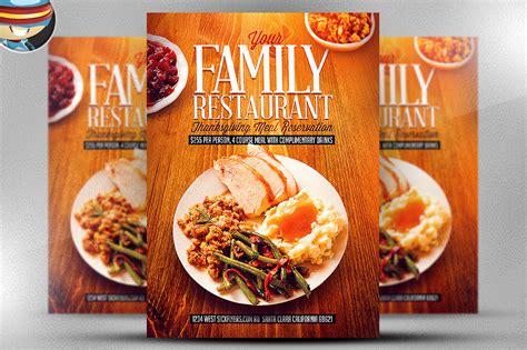 restaurant flyers templates thanksgiving restaurant template flyer templates on