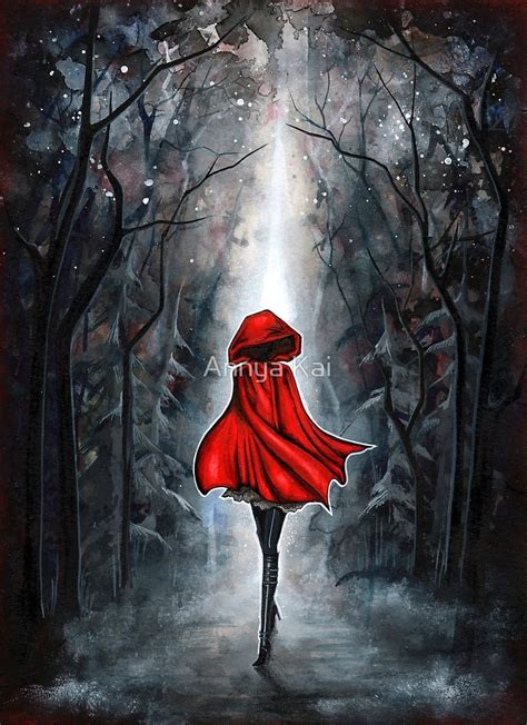 red riding hood 2304 quot little red riding hood quot by annya kai redbubble