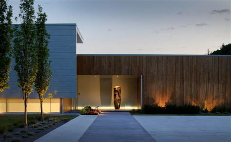 Contemporary Landscape Lighting 2012 Installation Contempory Contemporary Exterior Omaha By Mckay Landscape