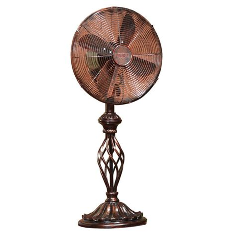 home depot desk fan deco breeze 12 in prestige rustica fan dbf0503