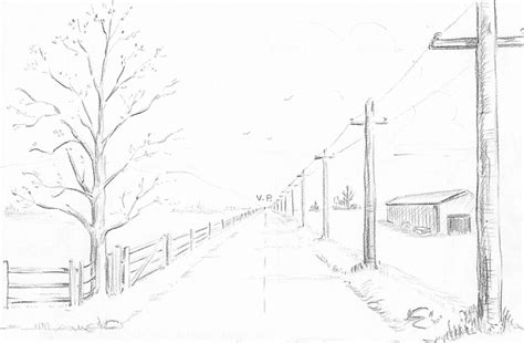 how to draw landscape how to draw landscape in one point perspective drawing tutorial cc