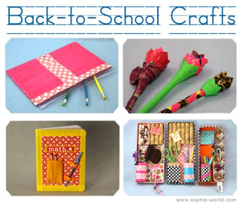 school craft ideas how to plan a back to school s world