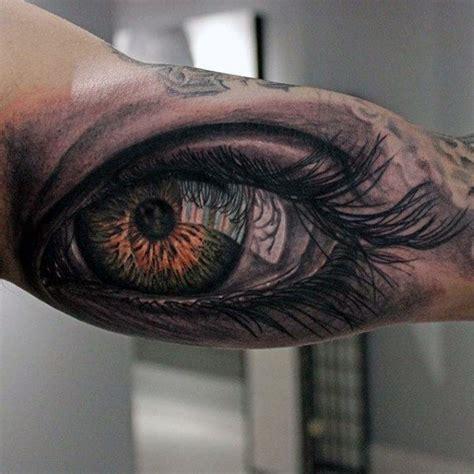 tattoo inside eye realistic 3d human eye guys inner arm tattoos tattoos