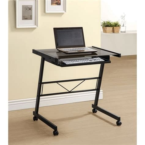 black desk with keyboard drawer coaster computer desk with keyboard tray in black 800816
