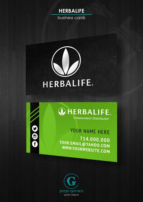 herbal business cards templates herbalife business card design template herbalife
