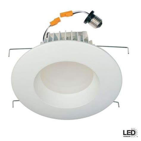 commercial electric 6 in recessed white led retrofit trim