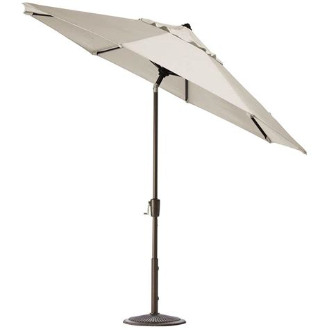 Canvas Patio Umbrella Home Decorators Collection 7 5 Ft Auto Tilt Patio Umbrella In Canvas Sunbrella With Bronze