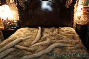 faux fur king size comforter king plush gray wolf huskie fur bedspread by furaccents
