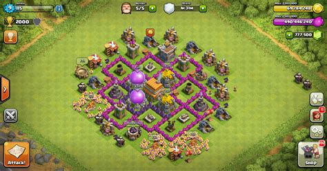 layout coc th 6 yang kuat thropy base clash of clans th 6 design base clash of