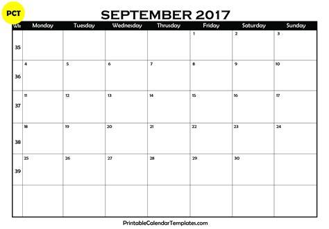 printable september 2017 calendar september 2017 printable calendar blank templates