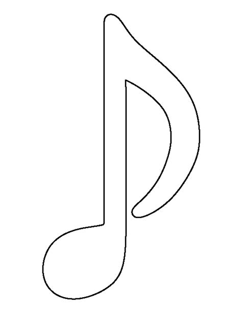 musical notes template musical note pattern use the printable outline for crafts