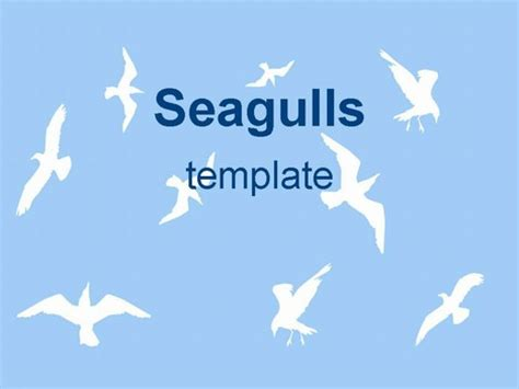 powerpoint themes free download birds sea gulls ppt template