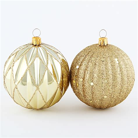 jaclyn smith 4ct 80mm shatterproof christmas round shape