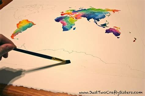 watercolor map tutorial pinterest the world s catalog of ideas
