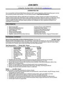 top real estate resume templates sles