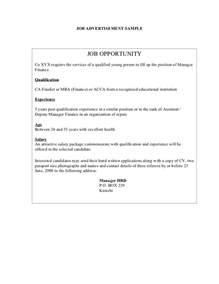 job application advertisement templates employment