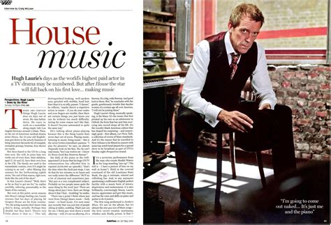 all over the house music video hugh laurie house music interview radio times magazine