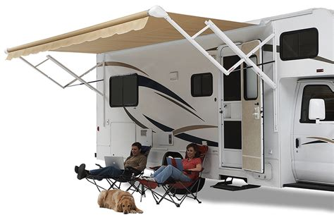 rv awnings r us carefree travel r 12v acrylic patio awning easy use