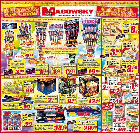 2010 sonderpostenmarkt magowsky feuerwerk forum