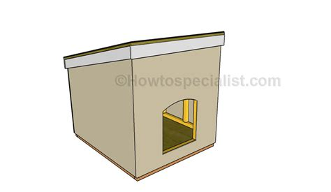 dog houses plans for large dogs large dog house plans howtospecialist how to build step by step diy plans