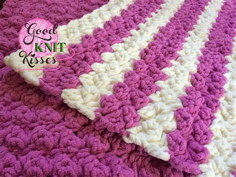 How To Crochet A Blanket by Marshmallow Crochet Baby Blanket Goodknit Kisses