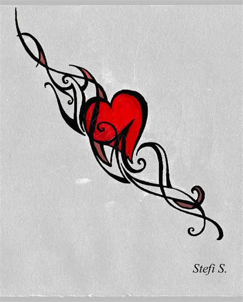 tattoo tribal heart heart tattoo design by snoopysteff on deviantart