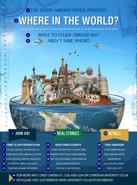 world travel flyer ticket printing