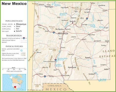road map of nm new mexico highway map