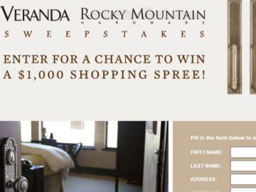 Veranda Sweepstakes - rocky mountain veranda sweepstakes