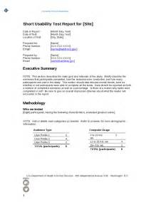 Short Technical Report Sample Short Report Template Images