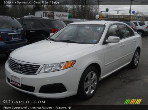 2009 Kia Optima Lx Specs Clear White 2009 Kia Optima Lx Beige Interior