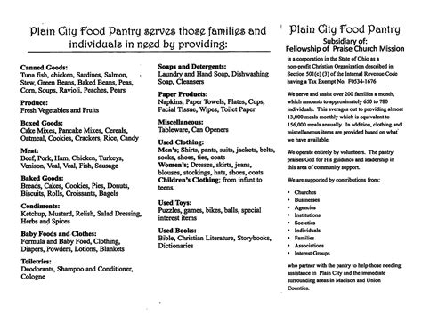 Church Pantry List by Church Food Pantry List Blackfashionexpo Us